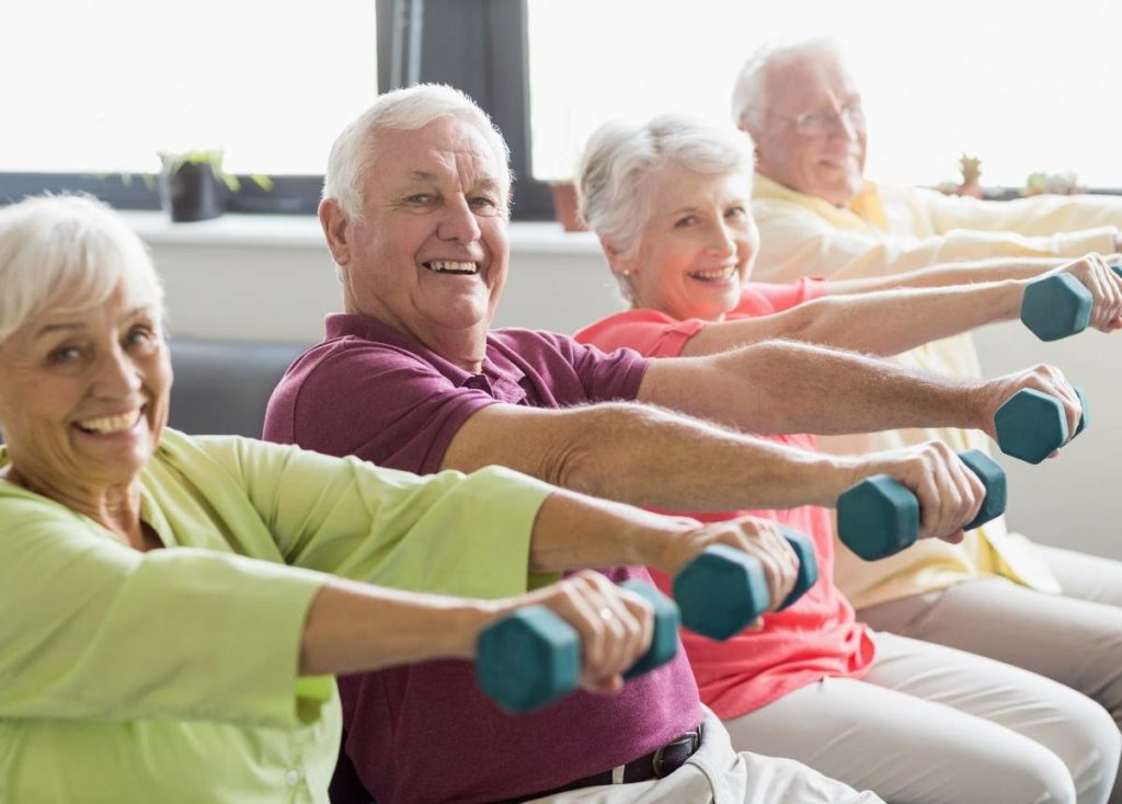 retirees staying physically active