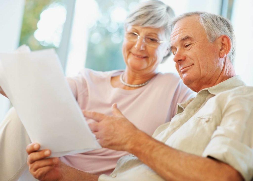 Retired couple preparing their finances