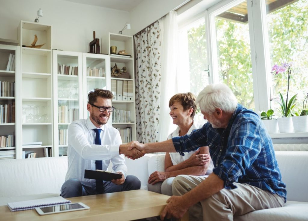In home meeting with a Retirement Plan Advisor